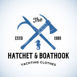 Hatchet and Boathook Yachting Clothes Manufacture Stock Images