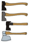 Hatchet. Vector drawing of the hatchets Stock Photos