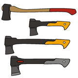 Hatchet. Vector drawing of the hatchets Royalty Free Stock Images
