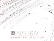 hatching Abstract malplaatje met zwarte, rode en grijze stroken Stock Afbeeldingen