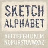 Hatching Alphabet Symbols Set Royalty Free Stock Photos