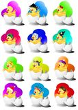 Hatching chick. (Vector) Royalty Free Stock Photography