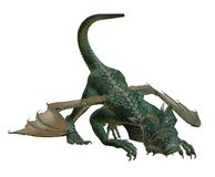Hatchling Dragon Playing. A cute Hatchling Dragon at play vector illustration