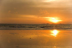 Hatchowmai Trang Thailand privat strandsemesterort Arkivfoton