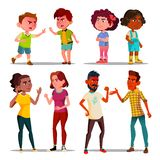 Hate Control, Anger Management, Arguing People Set. Hate, Anger Management, Arguing People Vector Set. Hate Control, Aggressive Behavior. Angry Children and vector illustration
