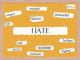 Hate Corkboard Word Concept Royalty Free Stock Images