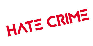 Hate Crime rubber stamp Royalty Free Stock Photo
