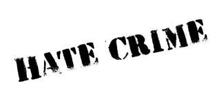 Hate Crime rubber stamp Stock Images