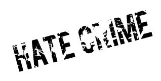 Hate Crime rubber stamp Royalty Free Stock Image