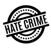 Hate Crime rubber stamp Stock Image
