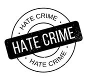 Hate Crime rubber stamp Stock Photo