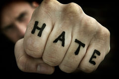 Hate fist Royalty Free Stock Photos