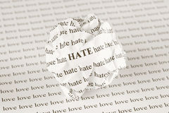 Hate or love Royalty Free Stock Image