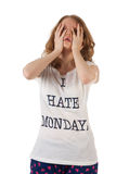 Hate mondays Stock Photography