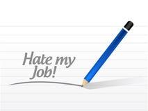Hate my job message illustration design Stock Photos