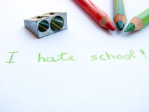 Hate school II Stock Photo
