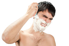 Hate to shave Stock Photography