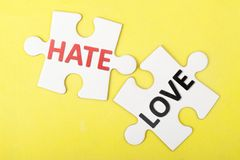 Hate versus love Royalty Free Stock Images