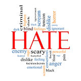 Hate Word Cloud Concept Royalty Free Stock Photos