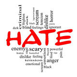 Hate Word Cloud Concept in Red and Black Stock Images