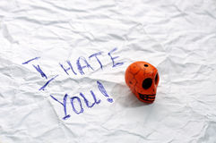 Hate you Royalty Free Stock Photo