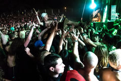Hatebreed Moshpit and crowd surfing on the Metaldays in Tolmin Stock Photo