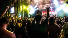 Hatebreed Moshpit and crowd surfing on the Metaldays in Tolmin Stock Images