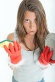 Hateful domestic chores Royalty Free Stock Image