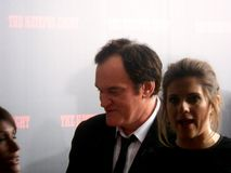 Director Quentin Tarantino The Hateful Eight premiere in New York City. New York, NY USA Quentin Tarantino with Courtney Hoffman attend the premiere of The Royalty Free Stock Photos
