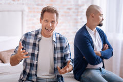 Hateful man shouting at home Royalty Free Stock Photography