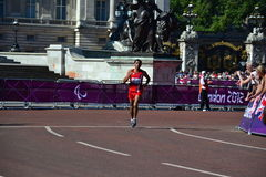 Hatem Nasrallah, Paralympic Athlet at the marathon Stock Images