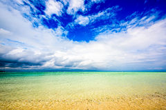 Hatenohama Beach in Okinawa. Kumejima Island, Okinawa, Japan at Hatenohama Beach Stock Photos
