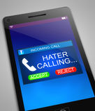 Hater calling concept. Royalty Free Stock Image