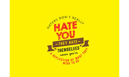 haters Photo stock