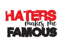 Haters quote Stock Photo