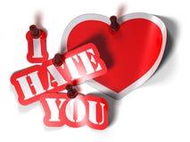 hatförälskelseförhållande royaltyfri illustrationer