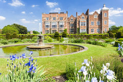 Hatfield House. With garden, Hertfordshire, England Stock Image