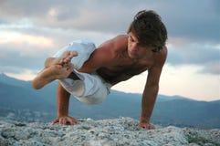 Hatha-yoga: ashtavakrasana#2 Stock Image