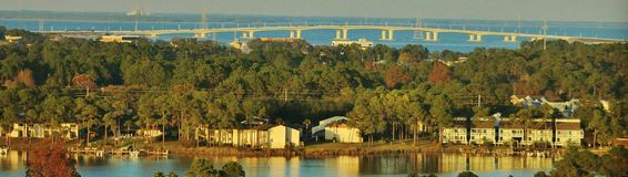 Panama City Beach Hathaway Bridge, Florida stock photo