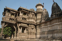 Hatheesinh jain temple, ahmadabad Royalty Free Stock Photography