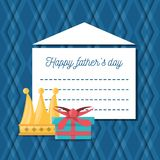Hathers day card with decoration elements. Vector illustration Royalty Free Stock Photo