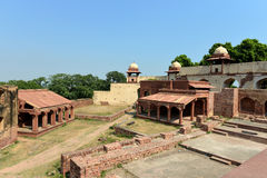 Hathi Pol and Burj in Fatehpur Sikri Complex. Hathi Pol and Burj in Fatehpur Sikri, Uttar Pradesh, India Royalty Free Stock Photo