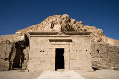 Hathor chapel. Deir el-medina, settlement site a temple dedicated to various gods Stock Image