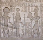 HATHOR GODDES IN DENDERA TEMPLE. EGYPT Royalty Free Stock Photos