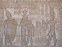 HATHOR GODDES IN DENDERA TEMPLE. EGYPT Royalty Free Stock Photo