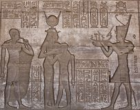 HATHOR GODDES IN DENDERA TEMPLE. EGYPT Stock Images