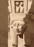 Hathor rzeźby szczegół Fotografia Royalty Free