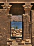 Hathor Temple on Agilkia island. Hathor Temple in the Templar System of the Agilkia Island (Aswan, Egypt Royalty Free Stock Images