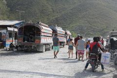 Hatian и граница Доминиканской Республики Стоковое Изображение RF