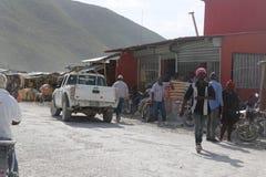 Hatian e beira da República Dominicana imagens de stock